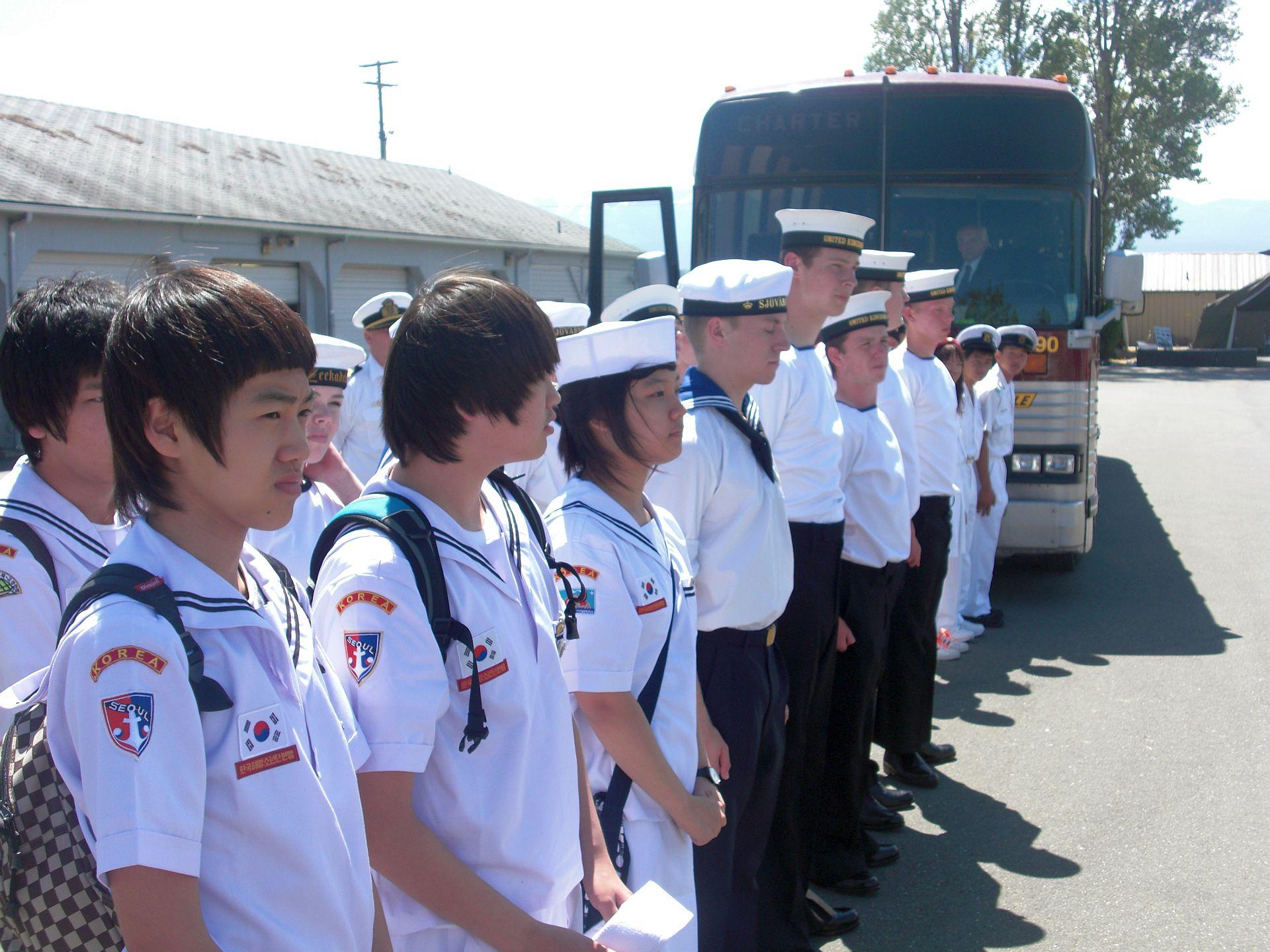 Delegatie Zeekadetten uit Zuid Korea.