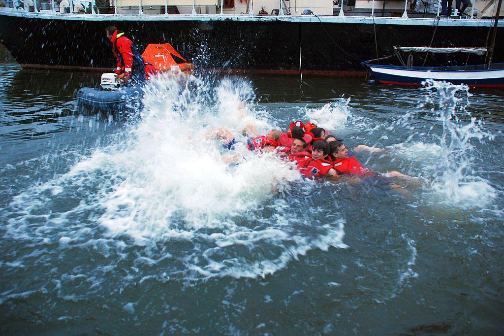 Oefening overleven in het water