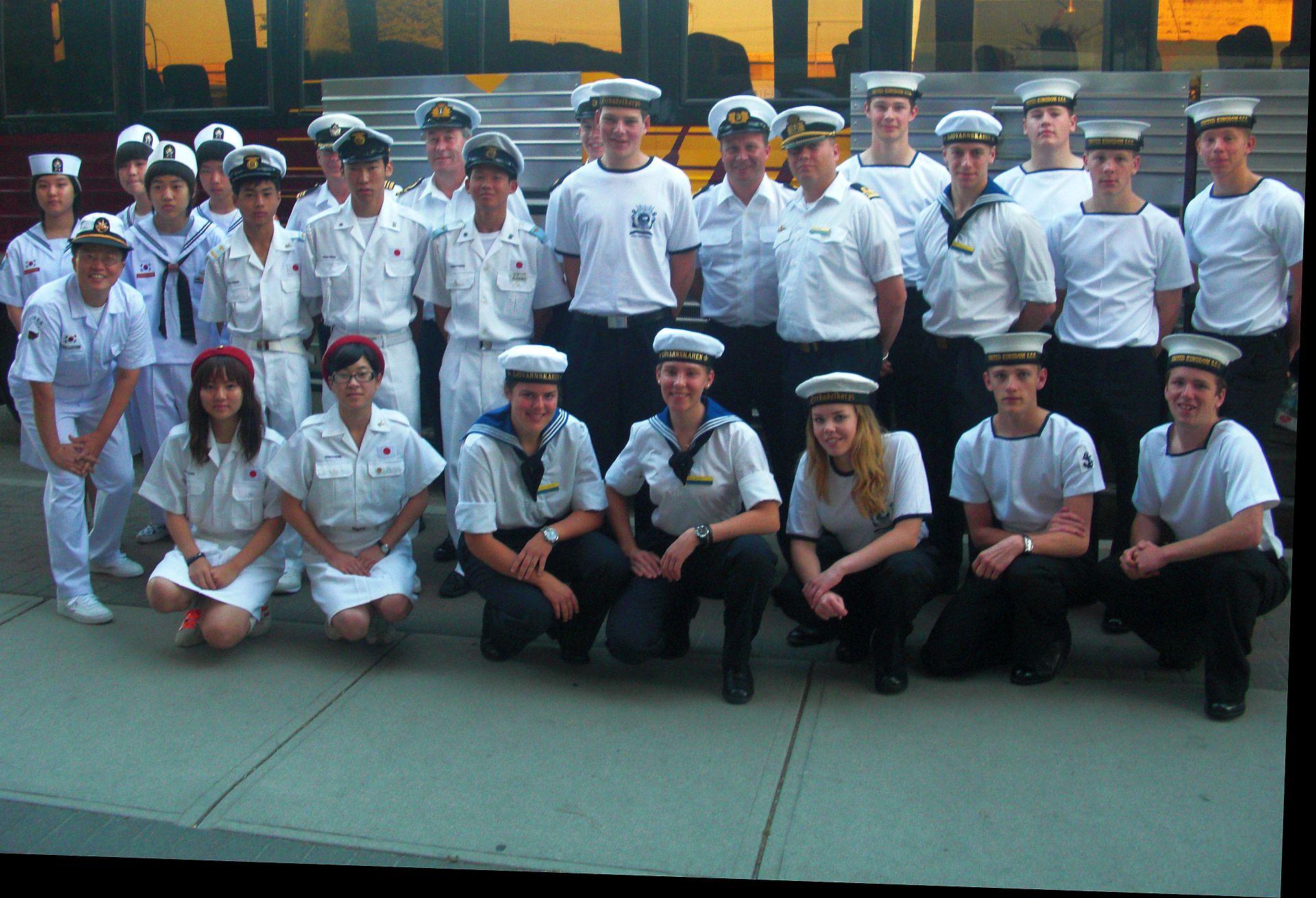 De crew die naar Canada afreisde.