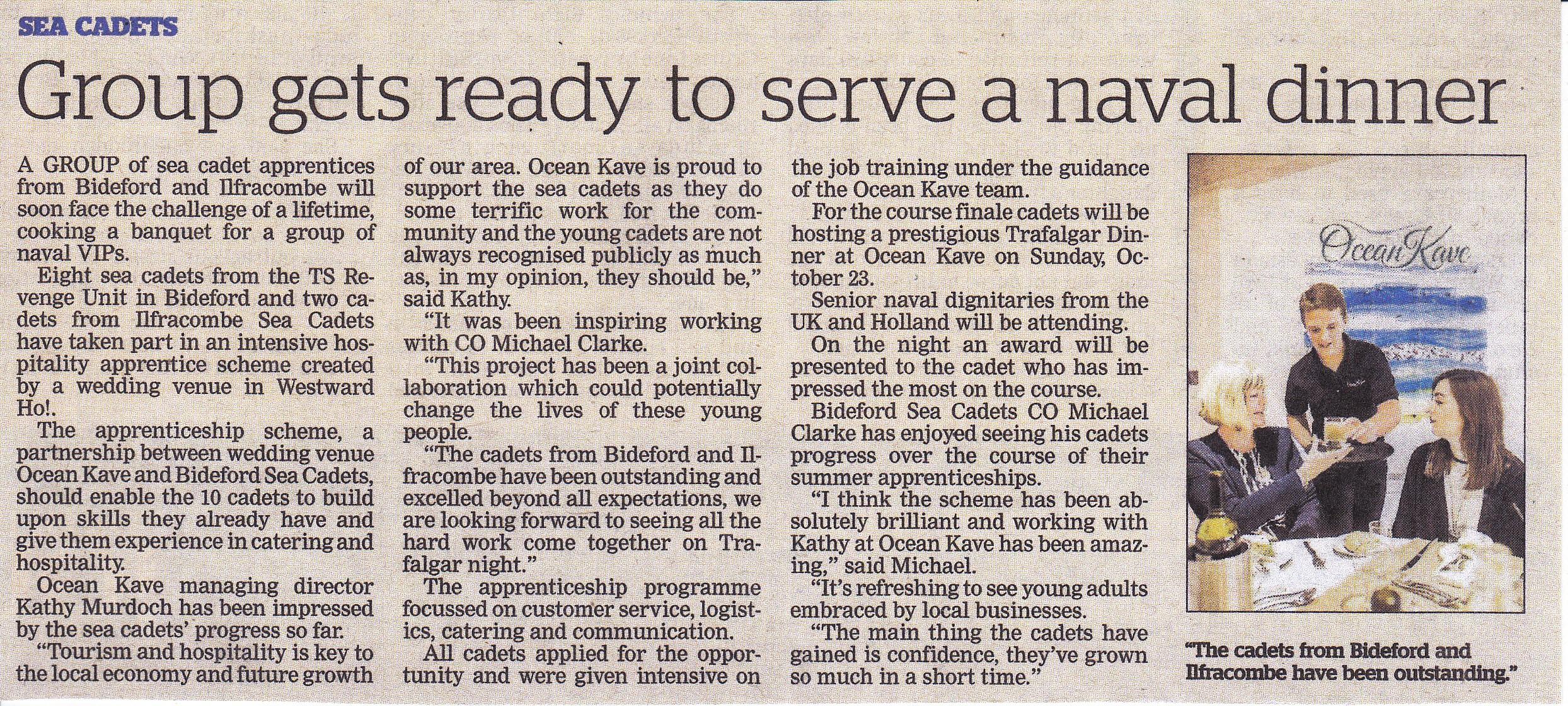 Krantenartikel North Devon Journal