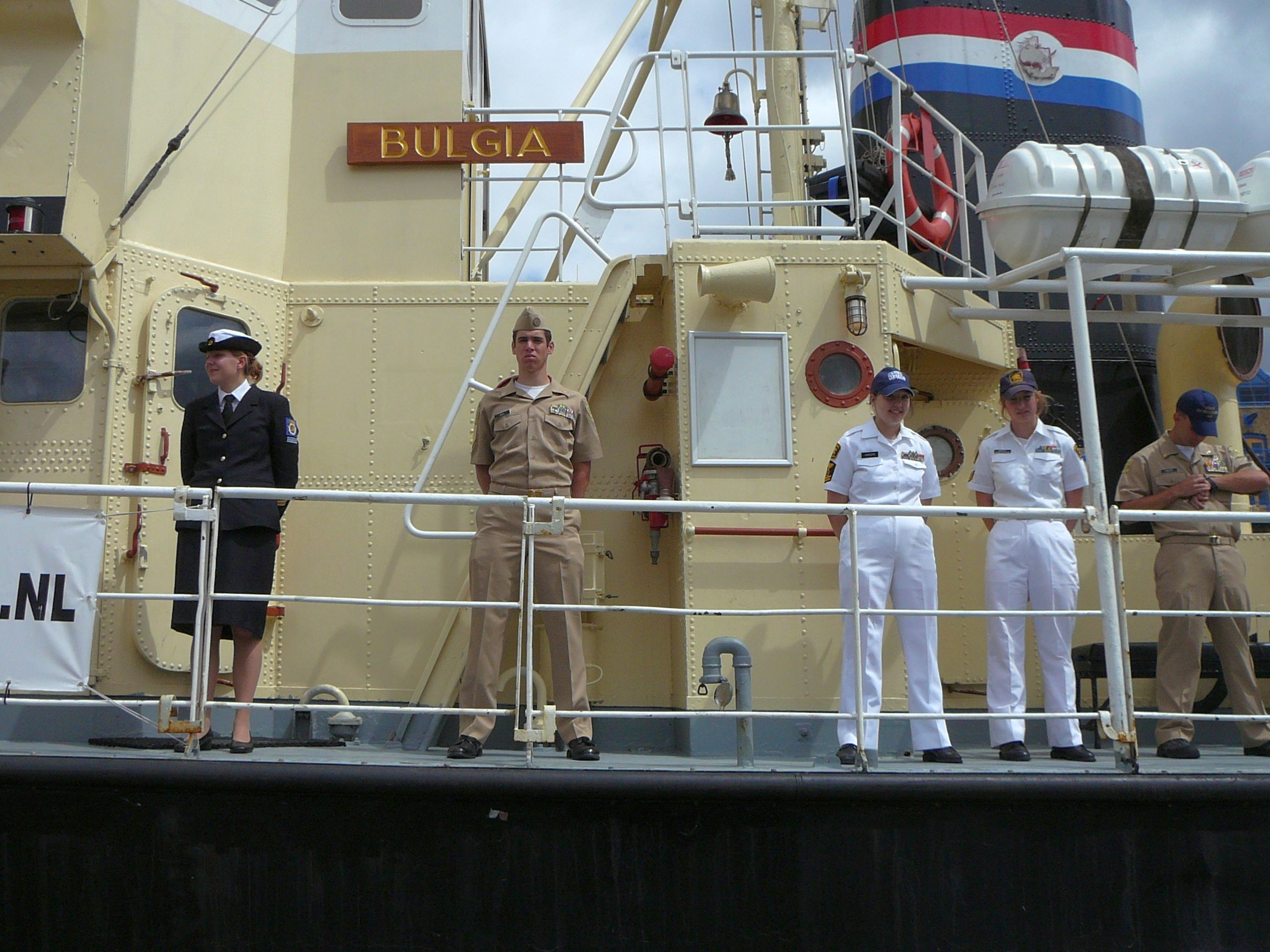 American Seacadets on board the Bulgia of Alkmaar