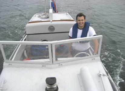 Jochem Ploeger tijdens een weekend voor sloepcommandanten.