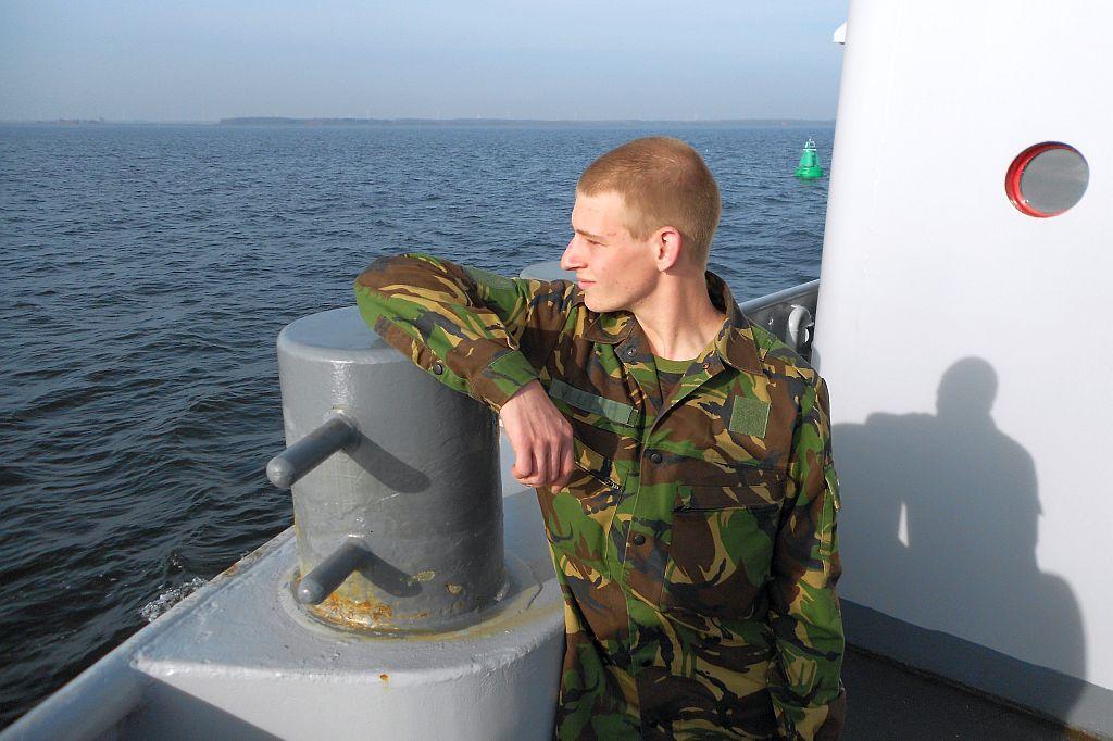 Pasal Vlug was als leerling Veiligheid & Vakmanschap Maritiem al regelmatig bij de marine. Hier op de sleper Rotte.